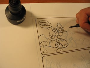 How To Start Inking Comics