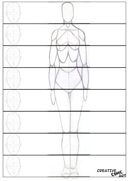 Understanding Basic Proportion Of The Human Figure | Creative Comic Art